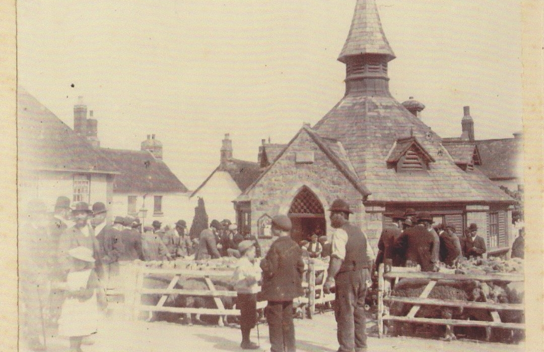 Chagford Square, 19th cent. market 1 001
